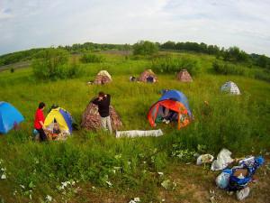 Палаточный лагерь на второй стоянке