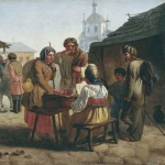 В. Каллистов. «Продажа кваса». 1862 г. Чувашский государственный художественный музей.