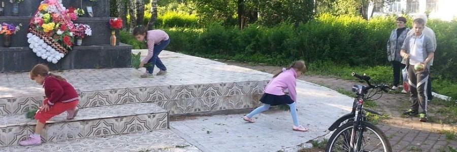 Дети активно помогали родителям