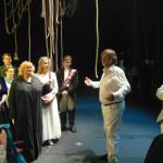 После спектакля Алексей Рыбников пообщался с актерами.