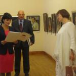 Организаторов и гостей выставки приветствовала депутат Ивановской областной Думы И.А. Виноградова, которая зачитала адрес председателя облдумы В.В. Смирнова.