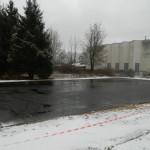 Около СДЮШОР подготовлено покрытие площадки для сдачи норм ГТО.