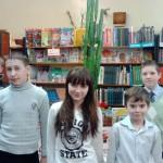Шестиклассники школы №10 в библиотеке.