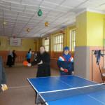 За теннисным столом о. Димитрий и Н.В.Галанова.