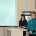 И.о. директора комплексного центра соцобслуживания И.В.Панкратова и специалист Н.Е.Богданова.