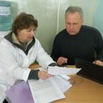 Т.А. Харламова и координатор проекта В. Хайбах