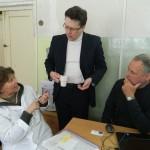 Профессор Т.А. Харламова, технический директор «INFRA» Н.Ю. Ивлиев и координатор проекта В. Хайбах