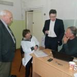 Профессора И.И. Бортников и Т.А Харламова, технический директор Н.Ю. Ивлиев и координатор проекта В. Хайбах