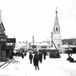 Кинешма. Базарная площадь и Воскресенская церковь. 1920-е годы.