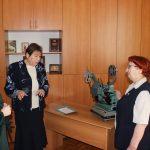 Гости выставки М.С.Бухмирова и В.А.Щукина.