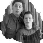 П.Д.Вялов и А.Е.Шашкова. 1955 год.