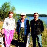Профессор Е.А.Борисова с участниками экспедиции.