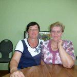 Социальные работники Е.В.Маркова и Т.Г.Русакова
