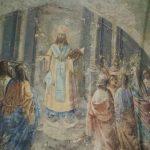 Образ Иоанна Златоуста в настенной росписи храма.