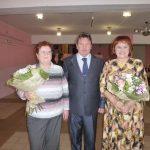 Поздравления от руководителя Кинешмы А.В.Пахолкова принимают Н.В.Галанова и Н.В.Норкина.